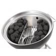 Verdeel eenvoudig uw kolen over de zijkanten van de barbecue