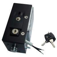 Elektromagnetisch slot en stopper voor naar binnen draaiend hek (sleutel L)