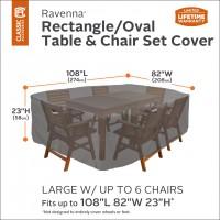 Ravenna® Hoes voor rechthoekige/ovalen tuintafel met stoelen (55-155-045101-00)