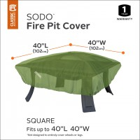 Sodo™ Vierkante vuurtafel hoes (55-356-011901-EC)
